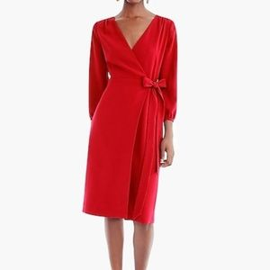 NWT J Crew Wrap Dress In 365 Crepe Size 12